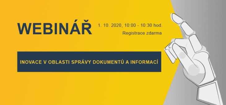 Webinář: Inovace v oblasti správy dokumentů a informací, Týden inovací, 1. 10. 2020