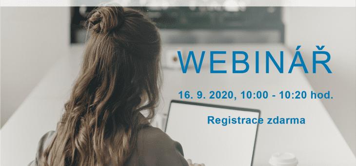 Webinář: Řízení firemních procesů a nástroje pro home office, 16. 9. 2020