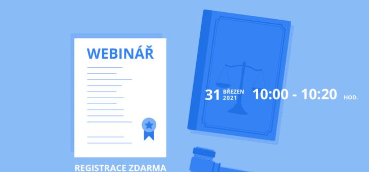 Webinář: Jak zefektivnit práci advokátní kanceláře?, 31. 3. 2021, 10:00 – 10:20