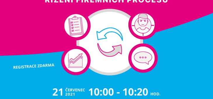 Webinář: Efektivní řízení firemních procesů, 21. 7. 2021, 10:00 – 10:20